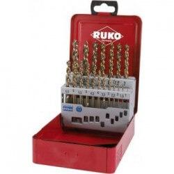 Metallpuuride komplekt RUKO HSS Turbo 1-10 mm (19-osaline)