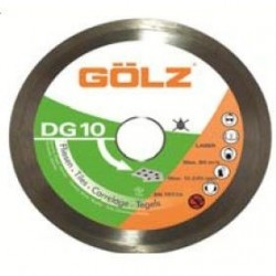 Teemantketas keraamikale GOLZ DG10 125x22,2 mm