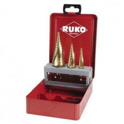Koonuspuurikomplekt RUKO HSS-TIN 4-12, 4-20, 4-30 mm