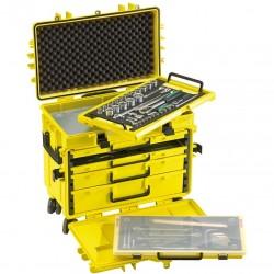 Ratastel kohver 89-osalise tööriistakomplektiga STAHLWILLE 805/4QR LGE