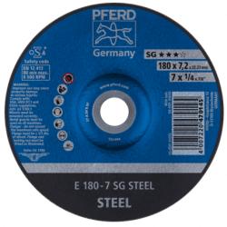 Terasest lihvketas PFERD E180-7 SG STEEL