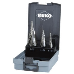 Koonuspuuri komplekt 3 tk RUKO HSS Quick cut Ø4-30 mm