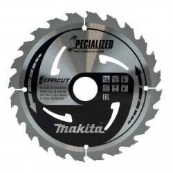 Saeketas MAKITA Efficut 190x30x1,45mm 24T 23°