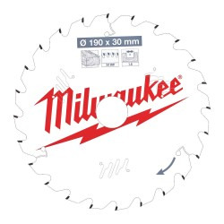 Puulõikeketas MILWAUKEE CSB P W 190x30x1,6 24 ATB