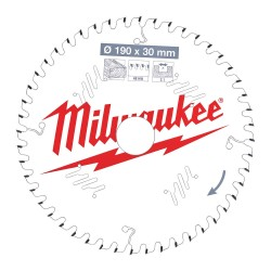 Puulõikeketas MILWAUKEE CSB P W 190x30x2,1 48 ATB