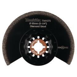 Ovalūs ašmenys su deimanto grūdu MAKITA Multitool TMA070 85mm