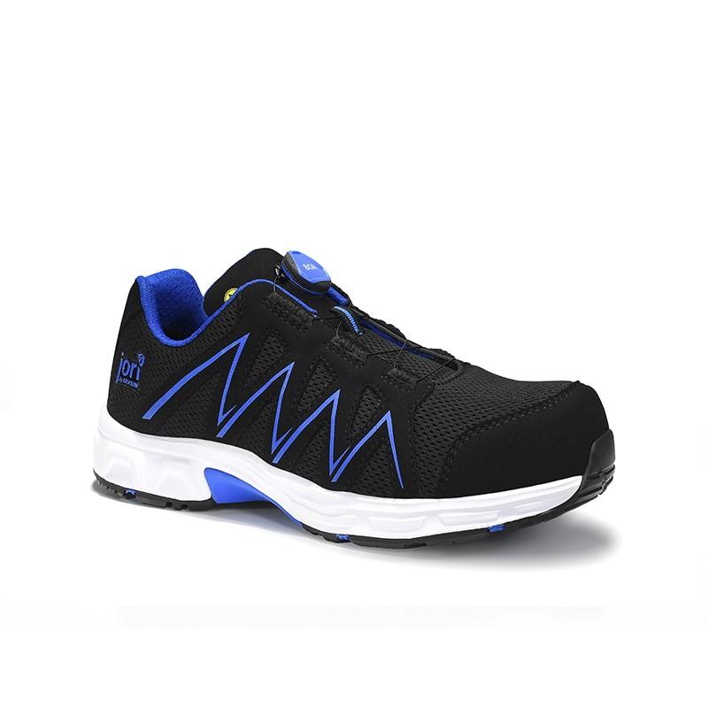Batai ELTEN Speedy Boa Black Blue Low ESD S1P, juodi/mėlyni
