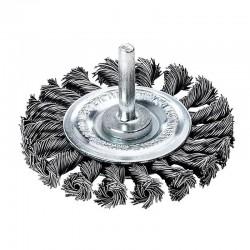Metalinis šepetys su koteliu LESSMANN Ø75mm