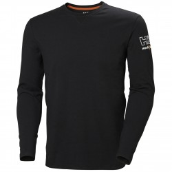 Marškinėliai ilgomis rankovėmis HELLY HANSEN Kensington, juodi